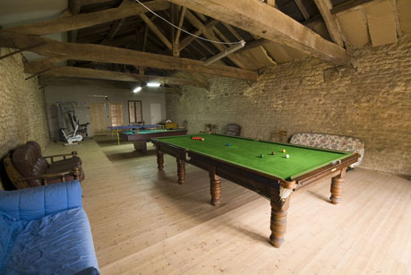 Games Hall with Snooker, Table Tennis, Pool Multigym etc.,