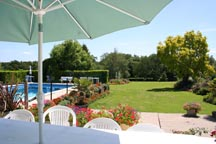 View of the gardens and outdoor pool