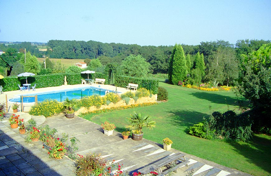 gites with pools view of gardens