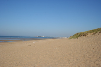 The beach at Jaunay looking towards St.Gille Croix de Vie