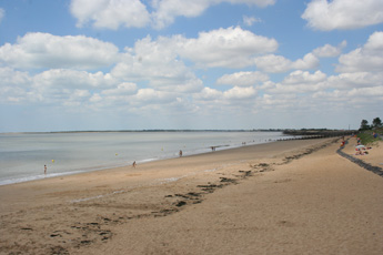 Vendee beaches, the most southerly beach in the Vendee at the point l'Aiguillon.
