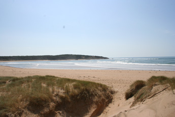 looking from the sand dunes towards Point du Payre