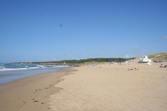 The beach in late September
