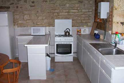 The Kitchen , Frene Cottage @ Lagrange Gites, Vendee, France.