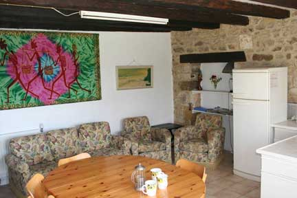 The Dining area and Lounge at Frene Cottage @ Lagrange Gites Complex.Vendee. France.