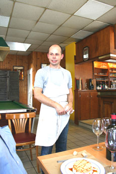 The Chef at the Hotel de Vendee in Fontenay le Comte