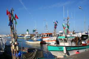 Colourful fishing boats on Ile d'Yeu
