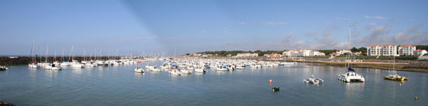 Panoramic view of the marina