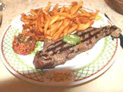 Steak and frites at the la Fauvette