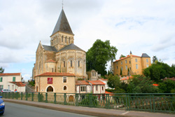 Mareuil-sur-Lay. The church and castle.