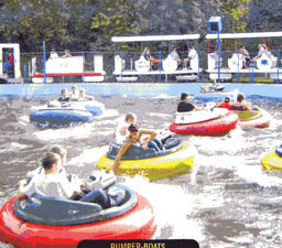 bumper boats or water doggums at Pierre Brune