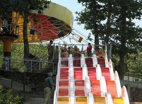 The turbo slide at the Pierre brune fun park