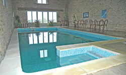 Heated indoor swimming pool at Lagrange gites in the Vendee