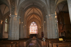 The Nave of St Jacques church in Pouzages