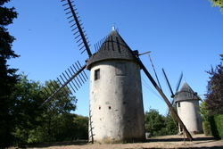 Le Terrier-Marteau. windmills restored and open to the public.
