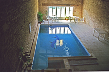 The indoor heated swimming pool image