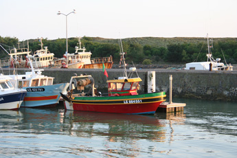 Fishing boats in the harbour at St Gilles Croix to Vie