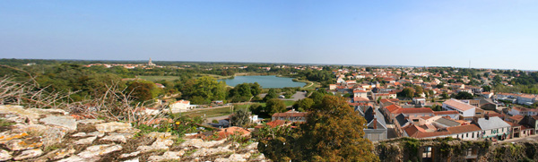 View from castle tower at Talmont St.Hilaire