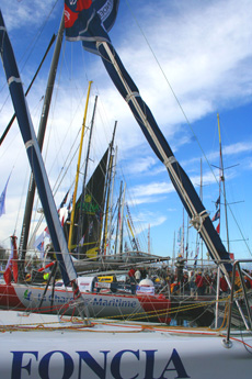 Image of masts at Vendee globe