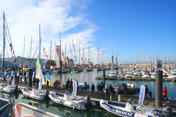 Colourful scene at the Vendee Globe
