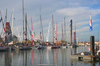 The Vendee Globe village at Les Sables d'Olonne