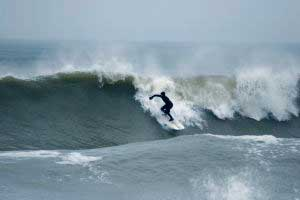 Vendee images - Surfing at Le Trenche sur Mer.